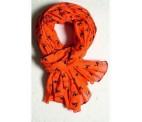 Orange tørklæde til jagt