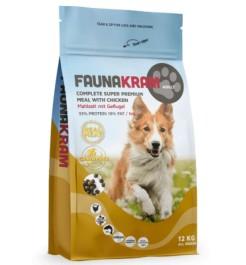 Faunakram 12 kg. Komplet Super Premium kornfri
